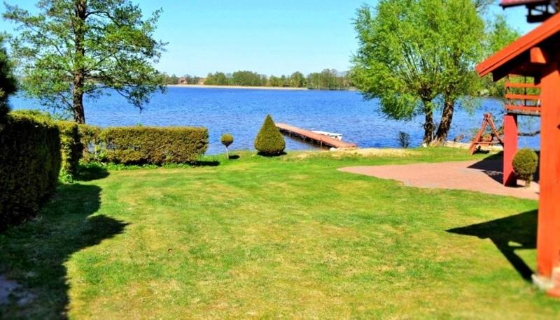 dom z własną plażą i pomostem nad jeziorem Gawlik - 6-8 osób