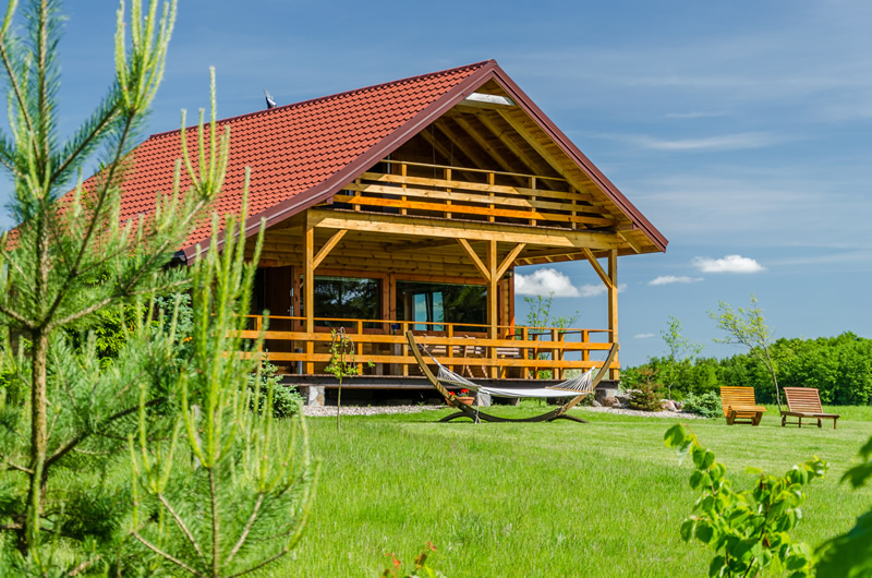Domek na Wzgórzu nad jeziorem na Mazurach