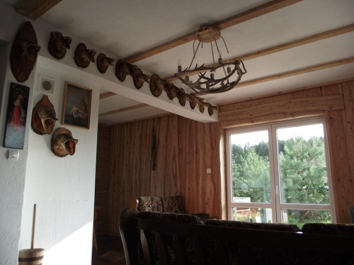 salon z wyjściem na taras