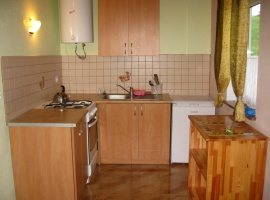Aneks kuchenny w domku nr 3, identyczne są w domkach 1 i 2