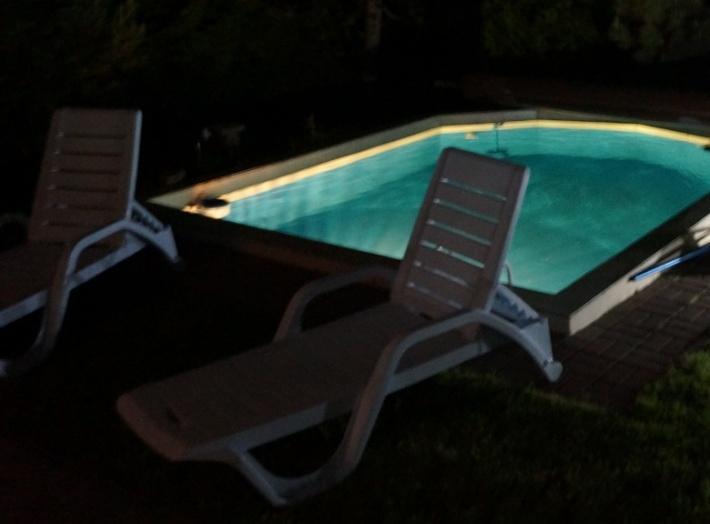 Dom Mazurskie Siedlisko - basen nocą