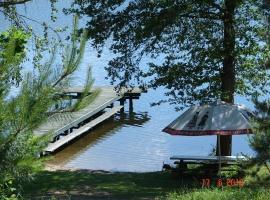 Prywatne zejście nad jezioro Łoby